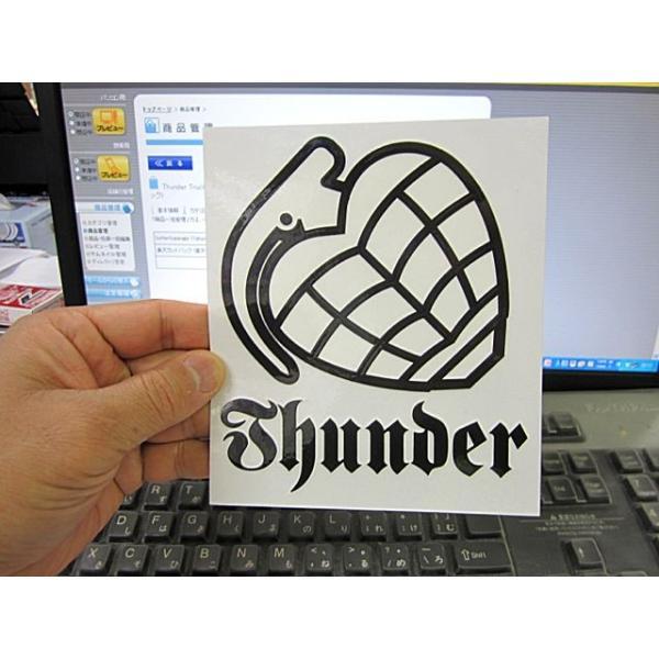 Thunder Trucks サンダートラック  White Sticker 15cm×13cm  スケートボード,ステッカー,サンダートラック butterflygarage