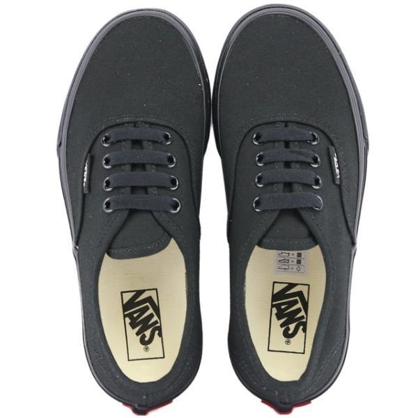 VANS バンズ Kids Classic Authentic Black/Black ヴァンズ オーセンティック スニーカー 靴 シューズ キッズ 子供|butterflygarage|05