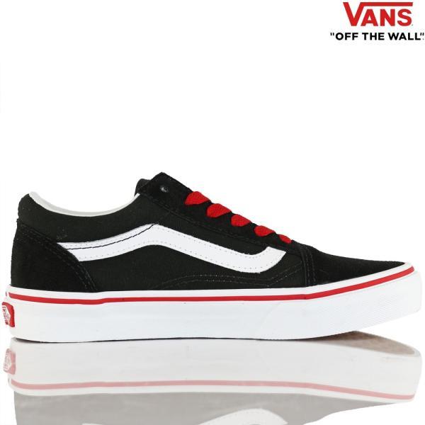 Vans バンズ キッズ スケボー シューズ 靴 Old Skool Pop Black/Racing Red スケートボード オールドスクール 子供 butterflygarage 02