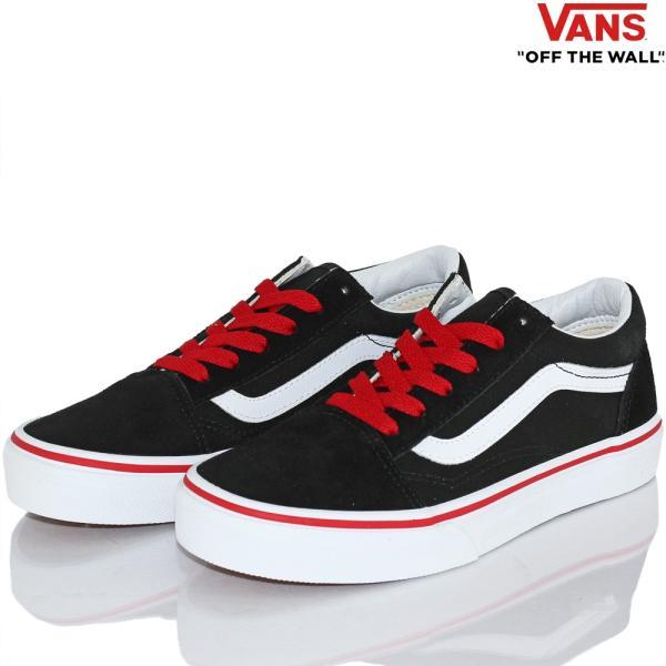 Vans バンズ キッズ スケボー シューズ 靴 Old Skool Pop Black/Racing Red スケートボード オールドスクール 子供 butterflygarage 03