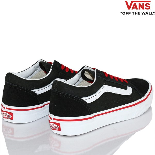 Vans バンズ キッズ スケボー シューズ 靴 Old Skool Pop Black/Racing Red スケートボード オールドスクール 子供 butterflygarage 04