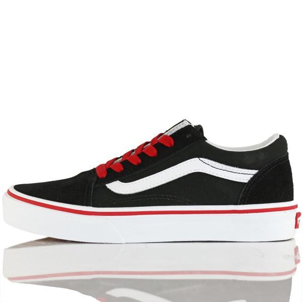Vans バンズ キッズ スケボー シューズ 靴 Old Skool Pop Black/Racing Red スケートボード オールドスクール 子供 butterflygarage 08