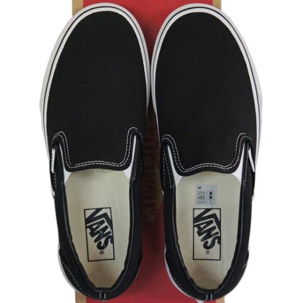 VANS バンズ ヴァンズ Classic Slip-On Black 23-30cm スケートボード スケボー クラシック スリッポン キャンバス USA企画 シューズ スニーカー 靴 メンズ レデ|butterflygarage|04