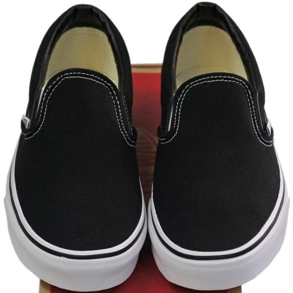 VANS バンズ ヴァンズ Classic Slip-On Black 23-30cm スケートボード スケボー クラシック スリッポン キャンバス USA企画 シューズ スニーカー 靴 メンズ レデ|butterflygarage|05