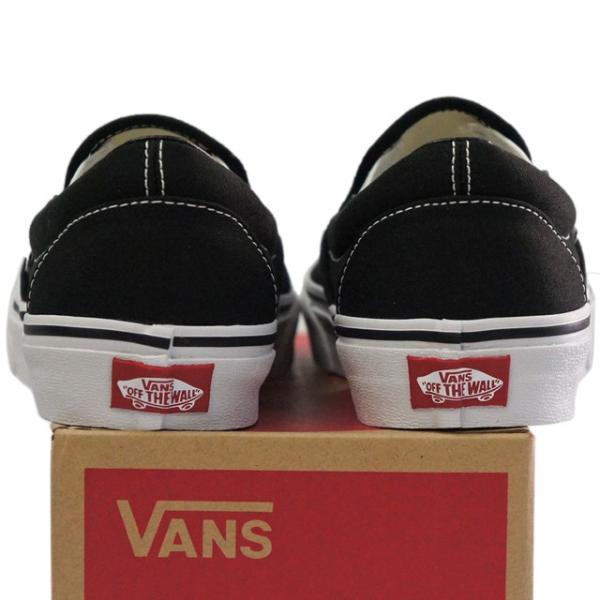 VANS バンズ ヴァンズ Classic Slip-On Black 23-30cm スケートボード スケボー クラシック スリッポン キャンバス USA企画 シューズ スニーカー 靴 メンズ レデ|butterflygarage|06