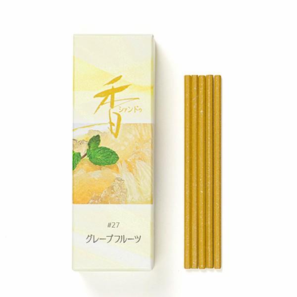【お香・松栄堂】Xiang Do グレープフルーツ 20本入 スティック70mm、簡易香立付