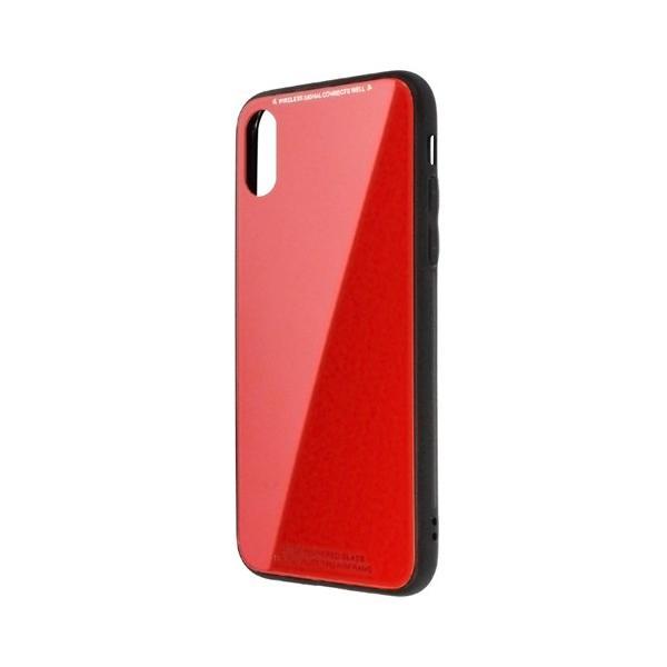 日本トラストテクノロジー TPUGCX-RD ワイヤレス充電対応 TPUガラスケース レッド 〔iPhone XS/X用〕の画像
