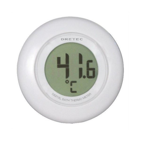 DRETEC デジタル湯音計 O-227WT ホワイト|buzzfurniture