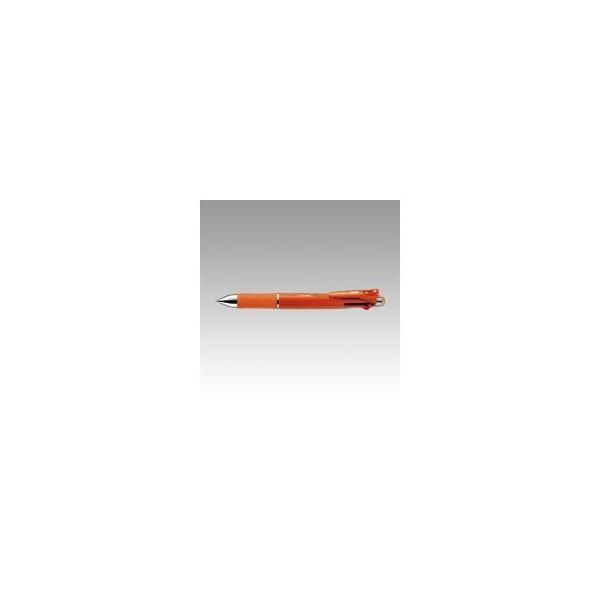 ゼブラ クリップオンマルチ1000 4色ボールペン(黒・赤・青・緑)+シャープ0.5 B4SA2-OR オレンジ 〔インク色:黒/赤/青/緑〕 1本