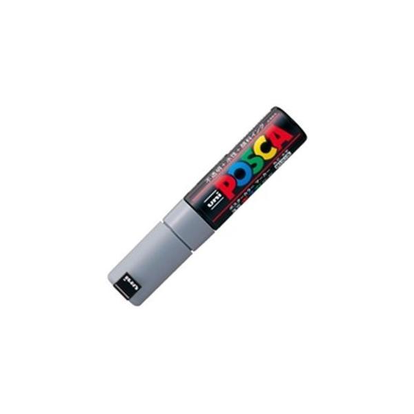 (業務用20セット)三菱鉛筆 ポスカ/POP用マーカー 〔太字/灰〕 水性インク PC-8K.37