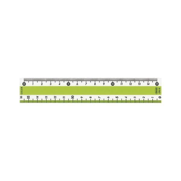 (まとめ) カラー直線定規 CPK-15-G グリーン 1本入 〔×20セット〕