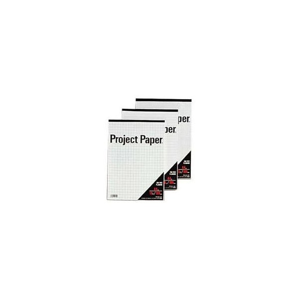 (まとめ) オキナ プロジェクトペーパー A4 5mm方眼 100枚 PPA45S 1冊 〔×15セット〕