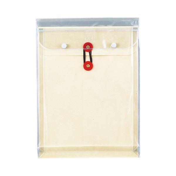 (まとめ) ピース マチヒモ付ビニール保存袋 レザック 角2 184g/m2 白 911 1枚 〔×15セット〕
