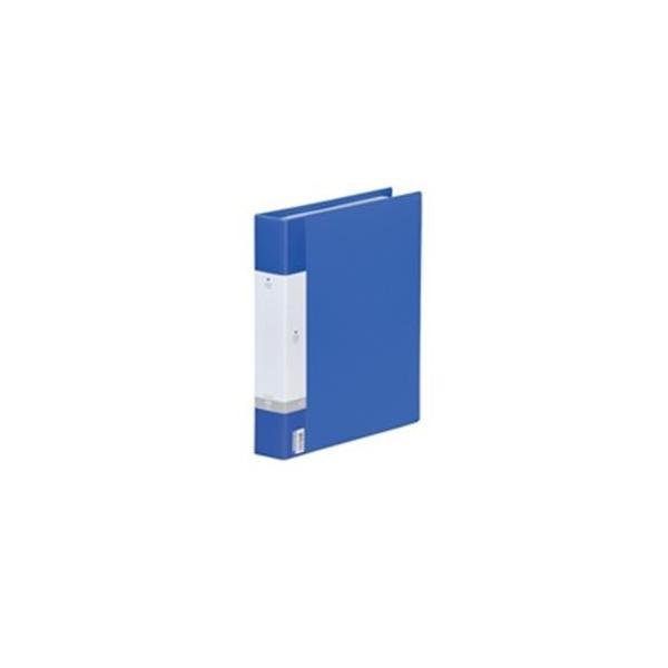 (業務用30セット) LIHITLAB 名刺ホルダー/名刺ファイル 〔A4/800枚収容 30穴〕 リングタイプ ヨコ入れ G8803-8 青