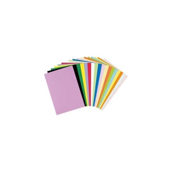 (業務用20セット) リンテック 色画用紙/工作用紙 〔八つ切り 100枚〕 レモン NC319-8