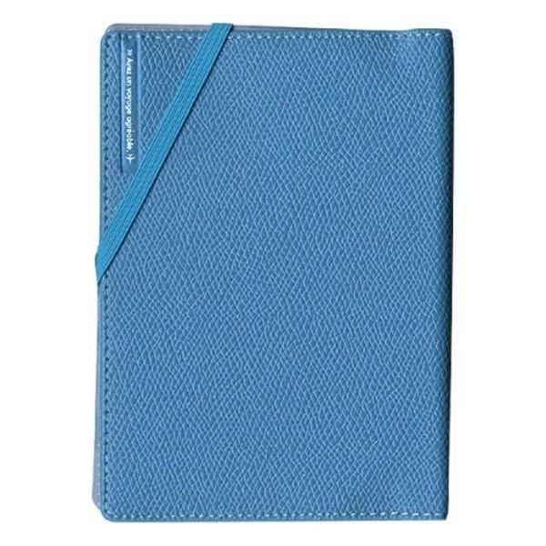 コンサイス スキミングブロック パスポートカバー皮革調R ライトブルー CO-293149 〔3個セット〕