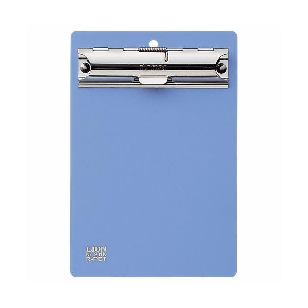 (まとめ)ライオン事務器 PETカラー用箋挟B7タテ ブルー No.201K 1枚 〔×30セット〕