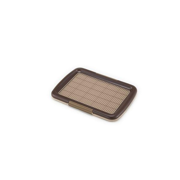 (まとめ)しつけるトレーメッシュプラスS ブラウン (ペット用品) (×2セット)