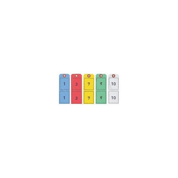 オープン工業 連番荷札 5色 BF-105 1セット(5組:各色1組)