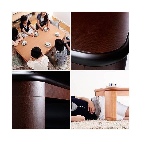 楢 ラウンド 折れ脚 こたつ リラ 150×80cm 長方形 折りたたみ  こたつテーブル|buzzhobby|02