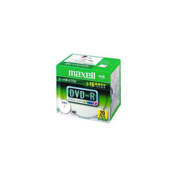 maxell データ用DVD-R 4.7GB 16倍速プリンタブルワイド 20枚 DR47WPD.S1P20SA|buzzhobby