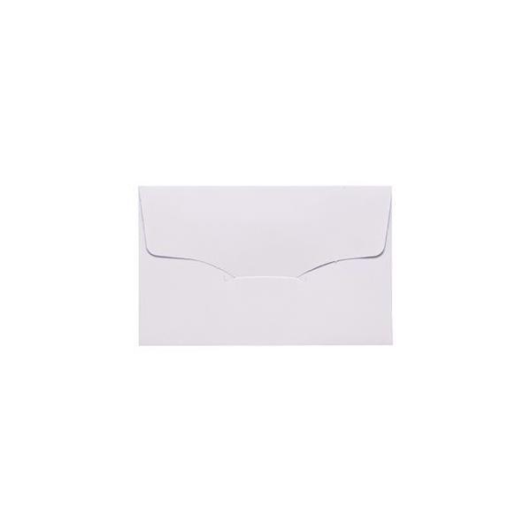 (まとめ) 名刺型封筒 112×70mm 100g/m2 白 ベ567 1パック(10枚) 〔×50セット〕