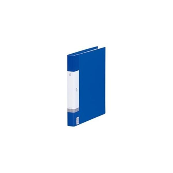 (業務用30セット) LIHITLAB 名刺ホルダー/名刺ファイル 〔A4/500枚収容 30穴〕 リングタイプ ヨコ入れ G8802-8 青
