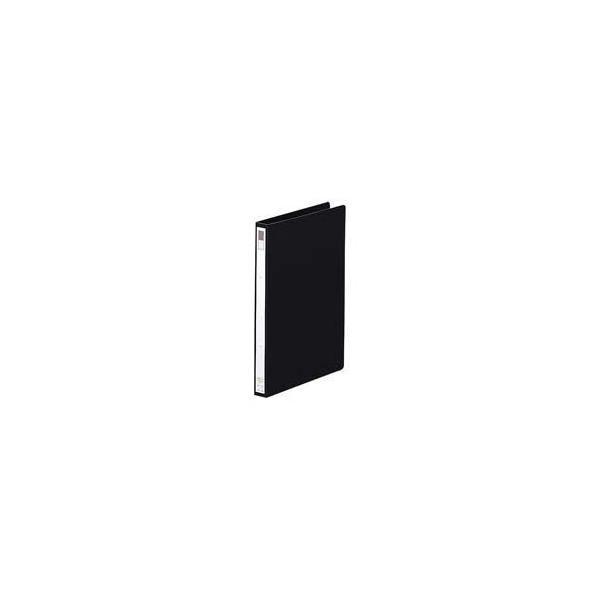 (業務用100セット) LIHITLAB リング式ファイル 〔B5/2穴〕 タテ型 背幅:27mm F-862-11 黒