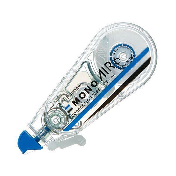 (まとめ) トンボ鉛筆 修正テープ モノエアー6mm幅×10m 青 CT-CA6 1セット(5個) 〔×5セット〕
