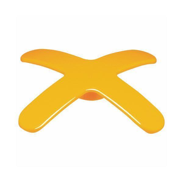 (まとめ) ライオン事務器 マグネットバー ペケピタクロスバータイプ 幅86×奥行86×高さ12mm オレンジ MB86X-1P 1個 〔×30セット〕