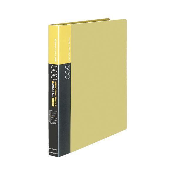 (まとめ)コクヨ名刺ホルダー(替紙式・発泡PPシートタイプ) 30穴 500名 ヨコ入れ 黄 メイ-F355NY 1冊 〔×3セット〕