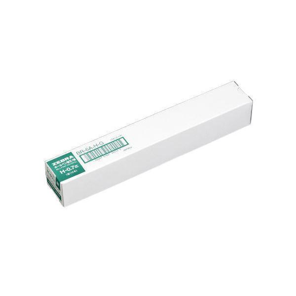 (まとめ)ゼブラ ボールペン替芯 BR-6A-H-G 緑 10本〔×10セット〕