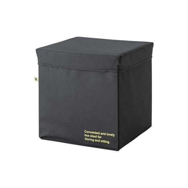 多用途 収納ケース 〔Lサイズ ブラック〕 幅42×奥行42×高さ41cm 『コンテナスツール』 〔リビング ダイニング〕