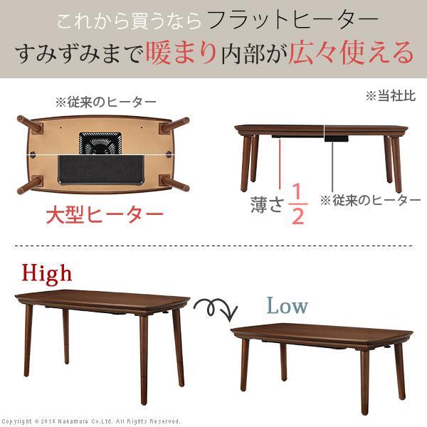 こたつ テーブル フラットヒーター ソファこたつ 〔ブエノ〕 90x50cm 長方形|buzzhobby|02
