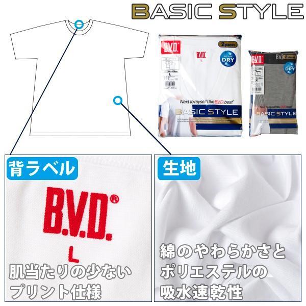 BVD 2枚組 Vネックスリーブレス 吸汗速乾 V首 BVD BASIC STYLE メンズインナー クール|bvd|02