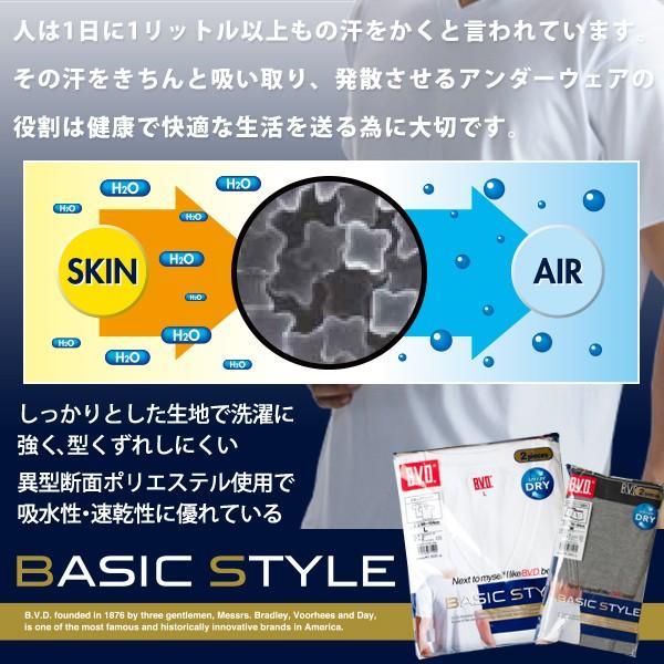BVD 2枚組 Vネックスリーブレス 吸汗速乾 V首 BVD BASIC STYLE メンズインナー クール|bvd|03