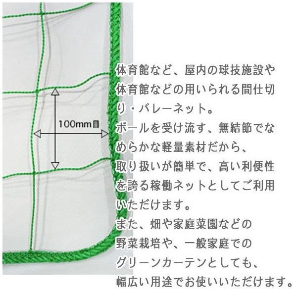 NET29 園芸  緑のカーテン グリーン バレーボールネット 巾101〜200cm 丈30〜100cm|c-ranger|02