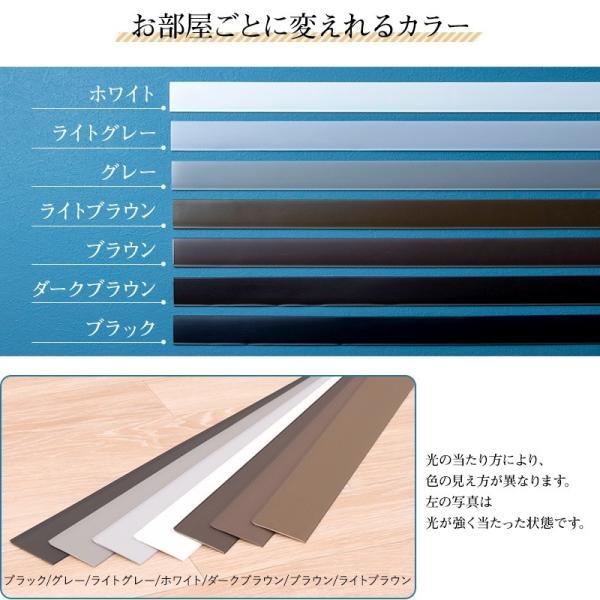 巾木 幅木 ソフト巾木 1枚 ペタット シール式 Rありブラック グレー ホワイト ブラウン 東リ|c-ranger|04