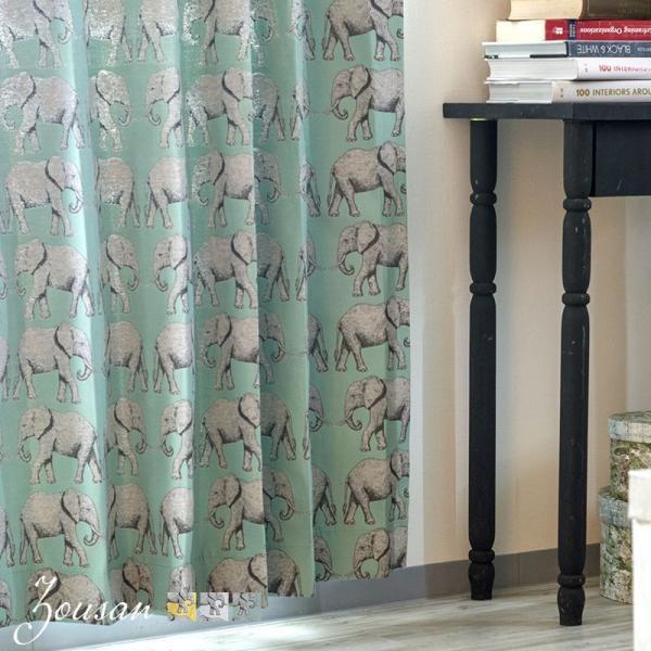 RoomClip商品情報 - カーテン インポートカーテン YH948 Joyper ぞうさん/ サイズオーダー幅45〜100cm×丈50〜100cm 1枚