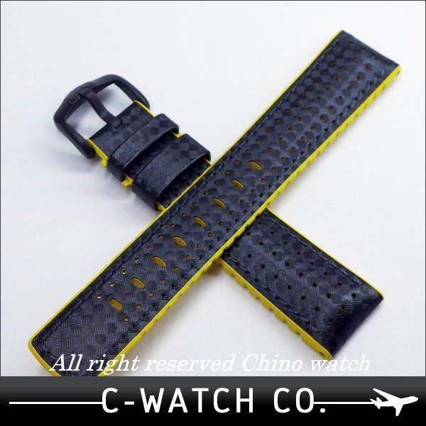 ヒルシュ HIRSCH 腕時計ベルト アイルトン イエロー 20mm 22mm 24mm 送料無料