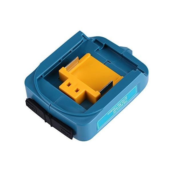 マキタ 互換USB アダプタ USBアダプタ マキタ バッテリー互換 Li-ionバッテリー用 2ポート 急速充電 ADP05 14-18V スマホ|cacaoshop|02