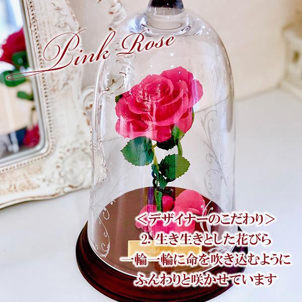 プリザーブドフラワー 1輪のバラ 美女と野獣 1本バラ 天然ダイヤ付き ブリザードフラワー プロポーズ 記念日|cafura|04