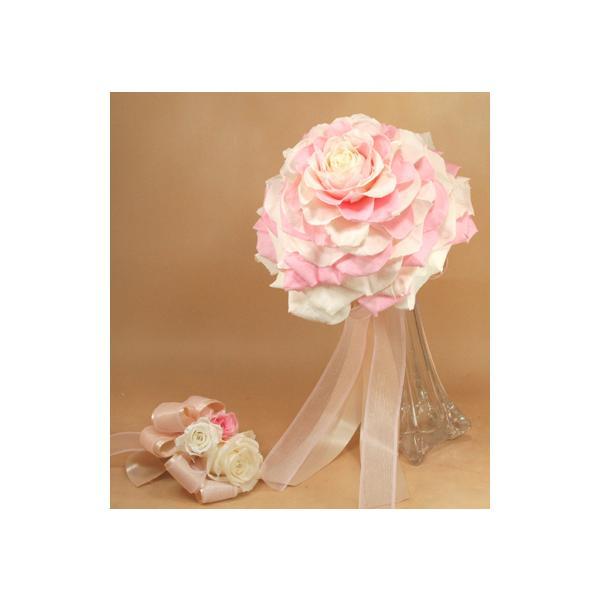 プリザーブドフラワー メリアブーケ(ピンク×ホワイト) |cafura