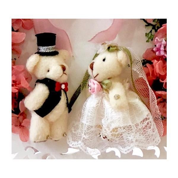 電報 結婚式 おしゃれ プリザーブドフラワー 祝電  お祝い ウェディングベア  ぬいぐるみ 幸せを呼ぶ小鳥 |cafura|07