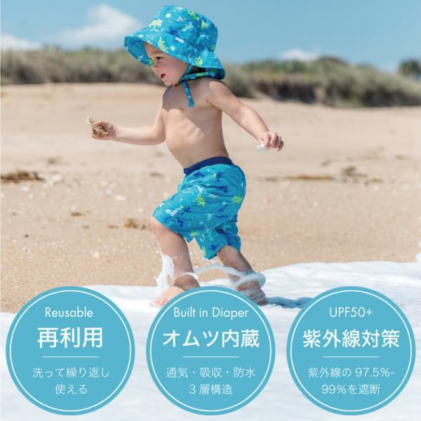 35bc386c2a7f0 ... ベビー 水着 男の子 スイムトランクス 海パン 水遊び用オムツ 水遊びパンツ アイプレイ ベビー水着 ...