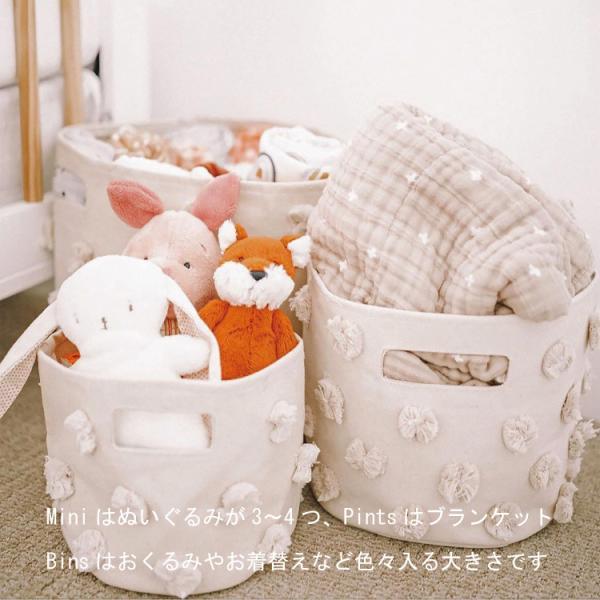 おもちゃ 収納 ボックス おしゃれ おむつポーチ おむつ 収納 Petit Pehr プチペハー ビンズ BINS (Lサイズ)|caizu-corporation|05