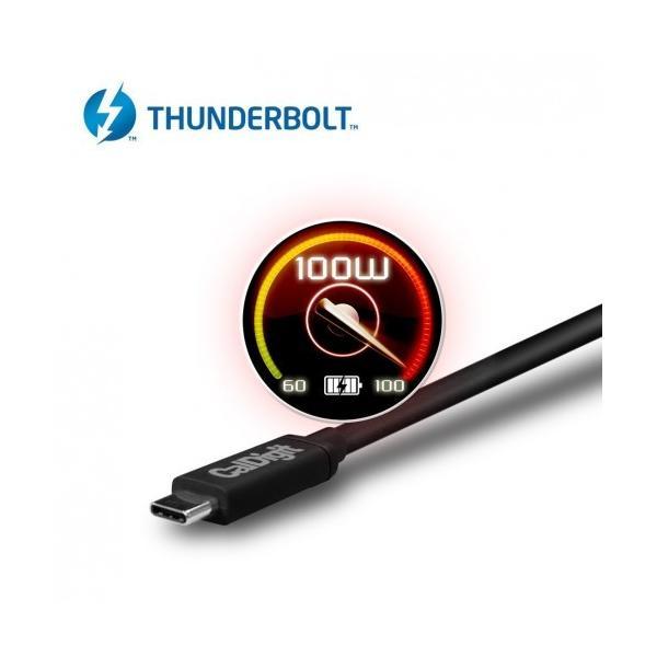 CalDigit Thunderbolt 3 ケーブル (2.0m, 6.56 ft) 40Gbps / 100W充電 / 5A / 20V / アクティブケーブル|caldigit-japan|04