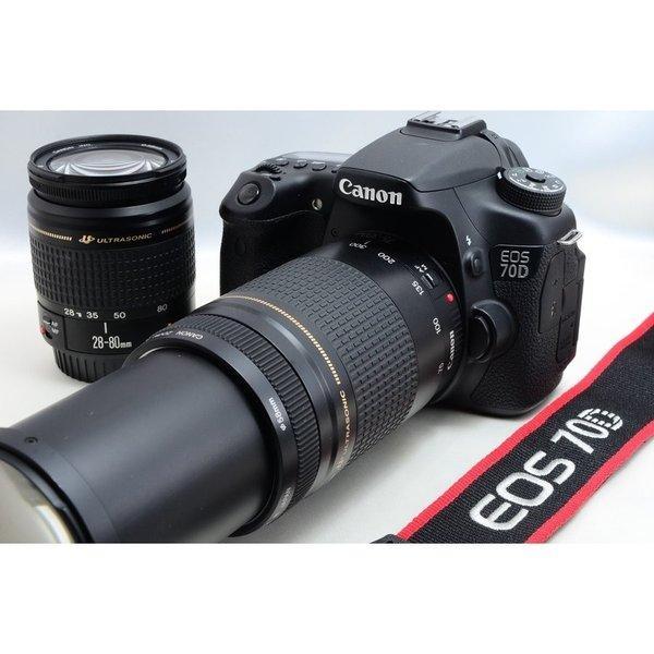 新品Wi-SDカード付き キヤノン Canon EOS 70D ダブルズーム 超望遠 [jkh]