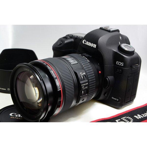 キヤノン Canon 5D Mark II 24-105mm F4L レンズセット 美品 ストラップ付