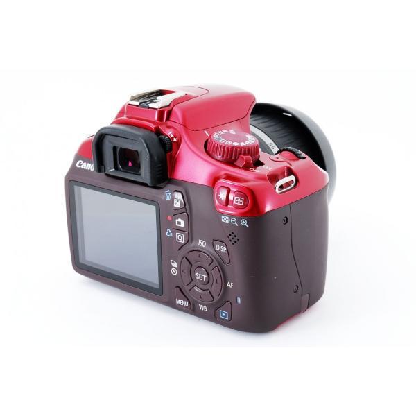 極上品 キヤノン Canon Kiss X50 レッド レンズキット 超人気 [jkh]